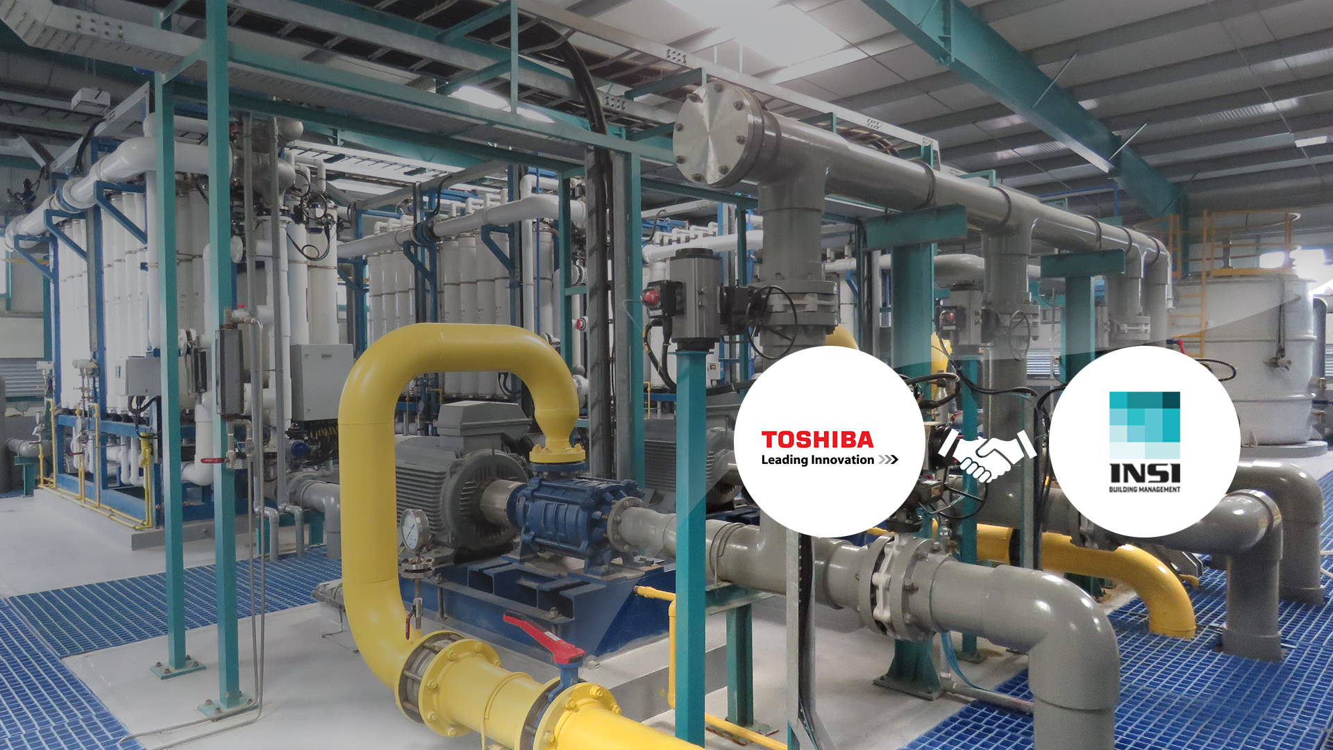 INSI and Toshiba Water Solution has started projects in Mestia and Marneuli