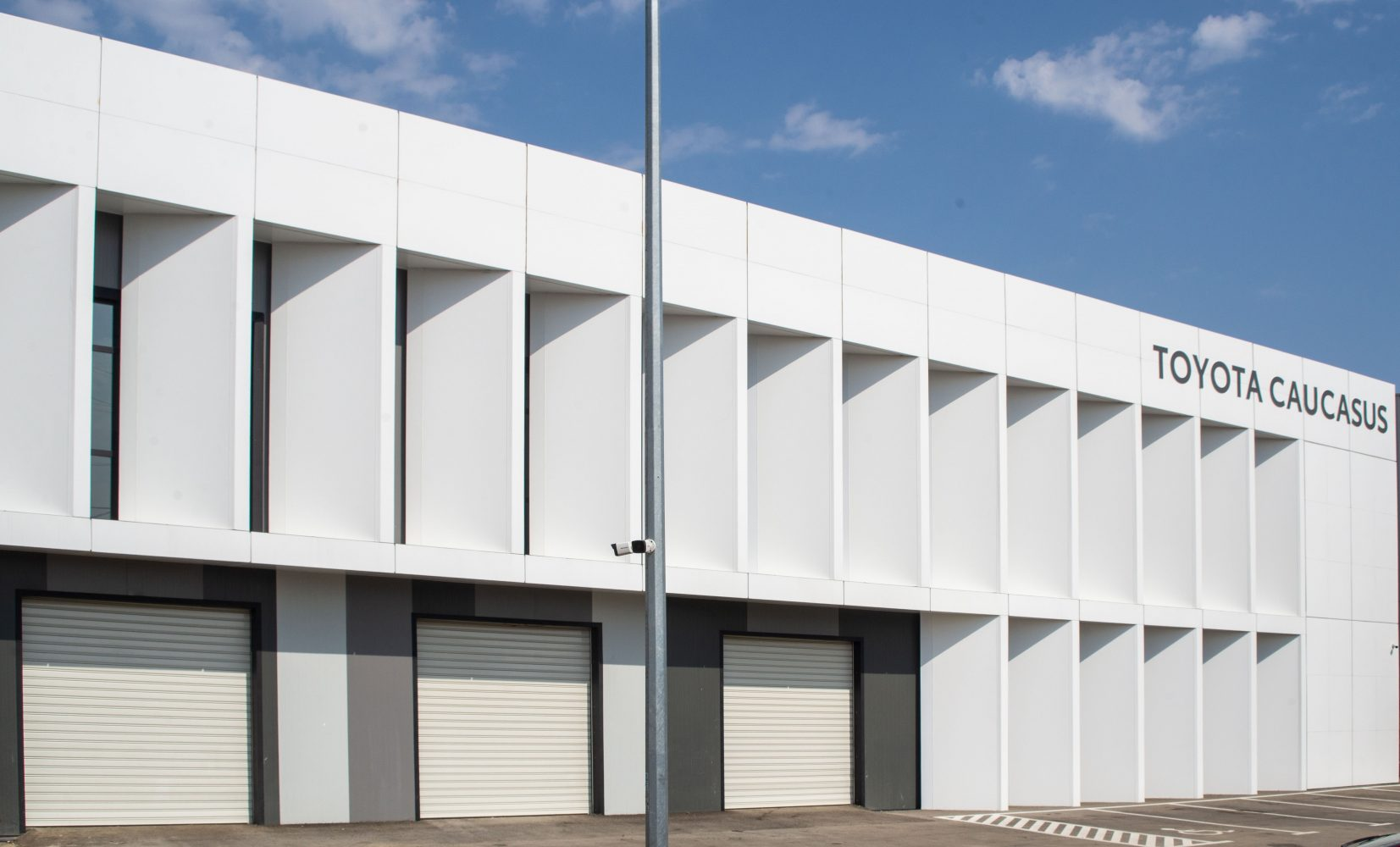 Construction of a warehouse for Toyota Caucasus LLC